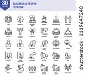 business and people line icons... | Shutterstock .eps vector #1119647240