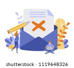 concept envelope with rejected... | Shutterstock .eps vector #1119648326