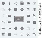 growing arrow icon. detailed... | Shutterstock .eps vector #1119648524