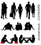 couple silhouettes vector | Shutterstock .eps vector #111965090