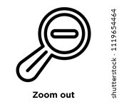 zoom out icon vector isolated... | Shutterstock .eps vector #1119654464