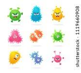 funny cartoon characters.... | Shutterstock .eps vector #1119660908