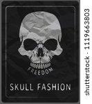 skull illustration   a mark of... | Shutterstock .eps vector #1119663803