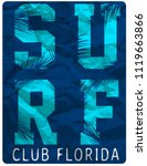 surf club tee clothing poster... | Shutterstock .eps vector #1119663866