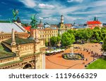 lviv   scenic city center view  ... | Shutterstock . vector #1119666329