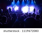 crowd of people in front of...   Shutterstock . vector #1119672083
