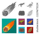 a falling meteorite... | Shutterstock .eps vector #1119673124