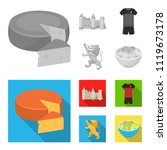 cheese  lion and other symbols... | Shutterstock .eps vector #1119673178