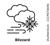 blizzard icon vector isolated... | Shutterstock .eps vector #1119676646
