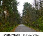 a long asphalt road in the... | Shutterstock . vector #1119677963