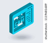 crm icon vector isolated on... | Shutterstock .eps vector #1119681689