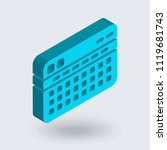 stats icon vector isolated on... | Shutterstock .eps vector #1119681743