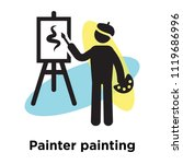 painter painting icon vector...   Shutterstock .eps vector #1119686996