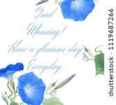 good morning  hand drawn vector ...   Shutterstock .eps vector #1119687266