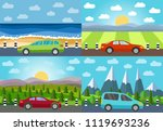 set of four vector illustration ... | Shutterstock .eps vector #1119693236