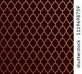 seamless golden geometric... | Shutterstock .eps vector #1119698759