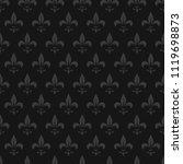 seamless fleur de lis lily... | Shutterstock .eps vector #1119698873