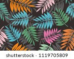 colorful summer seamless... | Shutterstock . vector #1119705809