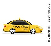 yellow taxi car isolated on... | Shutterstock .eps vector #1119706076