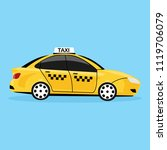 yellow taxi car isolated on... | Shutterstock .eps vector #1119706079