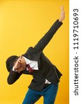 young asian man showing dab... | Shutterstock . vector #1119710693