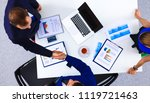 business people sitting and...   Shutterstock . vector #1119721463
