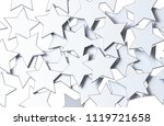 silver stars pattern isolated... | Shutterstock . vector #1119721658