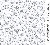 dog seamless vector  pattern.... | Shutterstock .eps vector #1119725639