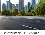 empty road with modern business ... | Shutterstock . vector #1119730856