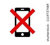 'please silence your mobile... | Shutterstock .eps vector #1119737489
