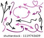 hand drawn diagram arrow icons... | Shutterstock .eps vector #1119743609