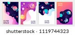 set of banner templates.... | Shutterstock .eps vector #1119744323