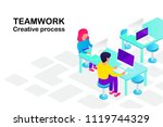 teamwork. people at work.... | Shutterstock .eps vector #1119744329