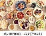 delicious food for a ramadan... | Shutterstock . vector #1119746156