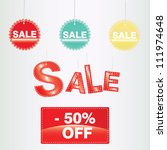 vector sale labels | Shutterstock .eps vector #111974648