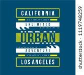 california urban typography t... | Shutterstock .eps vector #1119748259