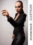 beautiful woman pose in studio. ... | Shutterstock . vector #111975143