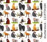 monkey character animal breads... | Shutterstock .eps vector #1119754184