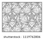 black and white decorative... | Shutterstock .eps vector #1119762806