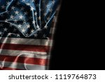 usa flag background with... | Shutterstock . vector #1119764873