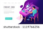 isometric front end development ... | Shutterstock .eps vector #1119766256