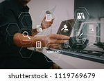 compliance virtual diagram for... | Shutterstock . vector #1119769679