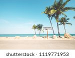 landscape of coconut palm tree... | Shutterstock . vector #1119771953