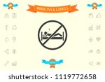 no smoking in bed   prohibition ... | Shutterstock .eps vector #1119772658