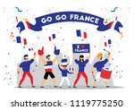russia 2018 world cup  france... | Shutterstock .eps vector #1119775250