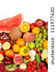 huge group of fresh vegetables... | Shutterstock . vector #111977630