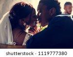 newlywed african descent bride... | Shutterstock . vector #1119777380