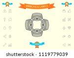 geometric oriental arabic...   Shutterstock .eps vector #1119779039