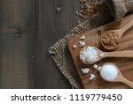 rock sugar and granulated sugar ... | Shutterstock . vector #1119779450