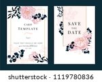 collection of peony flower  ... | Shutterstock .eps vector #1119780836